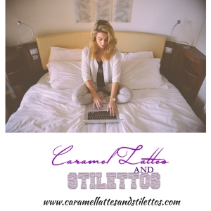woman working laptop in bed