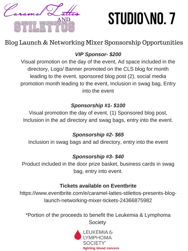Blog Launch & Networking Mixer Sponsorship Opportunities