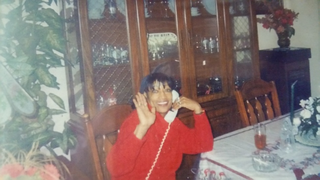 mommy on phone